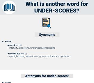 under-scores, synonym under-scores, another word for under-scores, words like under-scores, thesaurus under-scores