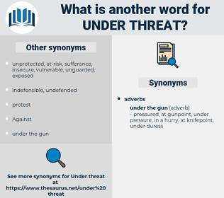 under threat, synonym under threat, another word for under threat, words like under threat, thesaurus under threat