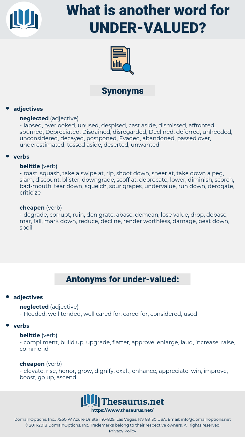 under-valued, synonym under-valued, another word for under-valued, words like under-valued, thesaurus under-valued