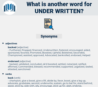 under-written, synonym under-written, another word for under-written, words like under-written, thesaurus under-written