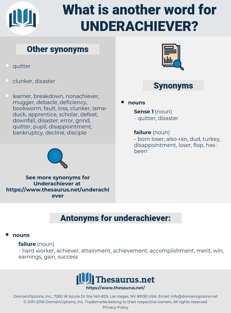underachiever, synonym underachiever, another word for underachiever, words like underachiever, thesaurus underachiever