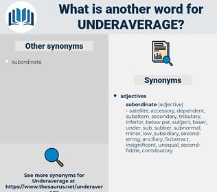 underaverage, synonym underaverage, another word for underaverage, words like underaverage, thesaurus underaverage