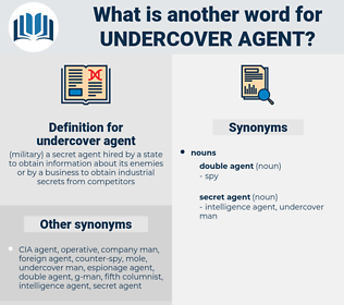 undercover agent, synonym undercover agent, another word for undercover agent, words like undercover agent, thesaurus undercover agent