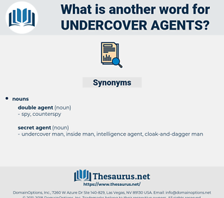undercover agents, synonym undercover agents, another word for undercover agents, words like undercover agents, thesaurus undercover agents