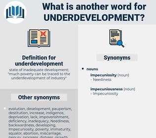 underdevelopment, synonym underdevelopment, another word for underdevelopment, words like underdevelopment, thesaurus underdevelopment