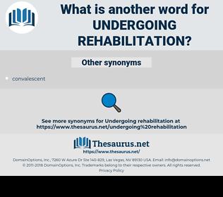 undergoing rehabilitation, synonym undergoing rehabilitation, another word for undergoing rehabilitation, words like undergoing rehabilitation, thesaurus undergoing rehabilitation