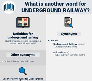 underground railway, synonym underground railway, another word for underground railway, words like underground railway, thesaurus underground railway