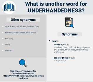 underhandedness, synonym underhandedness, another word for underhandedness, words like underhandedness, thesaurus underhandedness