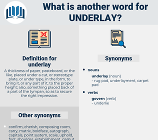 underlay, synonym underlay, another word for underlay, words like underlay, thesaurus underlay