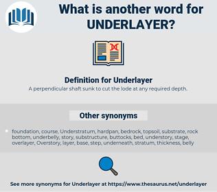 Underlayer, synonym Underlayer, another word for Underlayer, words like Underlayer, thesaurus Underlayer