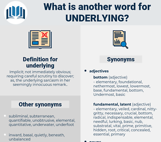 underlying, synonym underlying, another word for underlying, words like underlying, thesaurus underlying