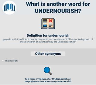 undernourish, synonym undernourish, another word for undernourish, words like undernourish, thesaurus undernourish