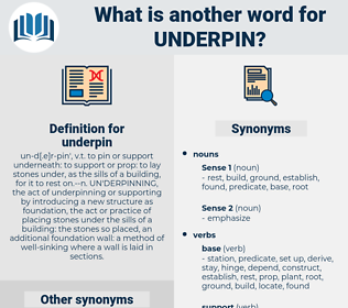 underpin, synonym underpin, another word for underpin, words like underpin, thesaurus underpin