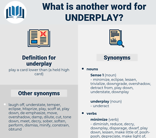 underplay, synonym underplay, another word for underplay, words like underplay, thesaurus underplay