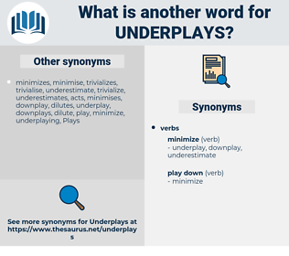 underplays, synonym underplays, another word for underplays, words like underplays, thesaurus underplays