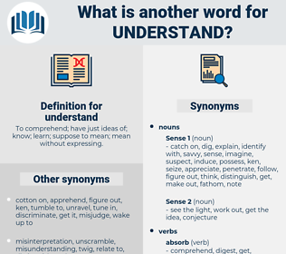 understand, synonym understand, another word for understand, words like understand, thesaurus understand