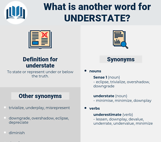 understate, synonym understate, another word for understate, words like understate, thesaurus understate