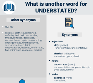 understated, synonym understated, another word for understated, words like understated, thesaurus understated