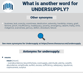undersupply, synonym undersupply, another word for undersupply, words like undersupply, thesaurus undersupply