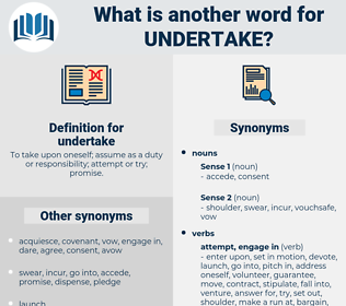 undertake, synonym undertake, another word for undertake, words like undertake, thesaurus undertake