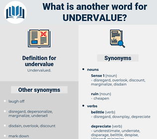 undervalue, synonym undervalue, another word for undervalue, words like undervalue, thesaurus undervalue