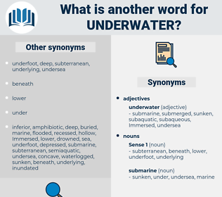 underwater, synonym underwater, another word for underwater, words like underwater, thesaurus underwater