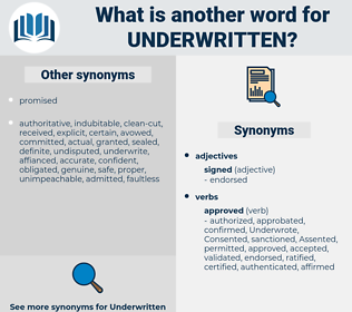 Underwritten, synonym Underwritten, another word for Underwritten, words like Underwritten, thesaurus Underwritten