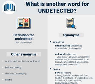 undetected, synonym undetected, another word for undetected, words like undetected, thesaurus undetected