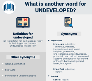 undeveloped, synonym undeveloped, another word for undeveloped, words like undeveloped, thesaurus undeveloped
