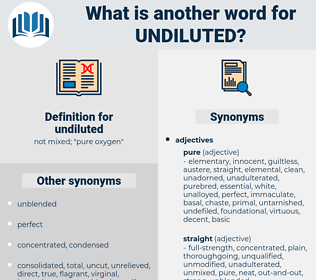 undiluted, synonym undiluted, another word for undiluted, words like undiluted, thesaurus undiluted