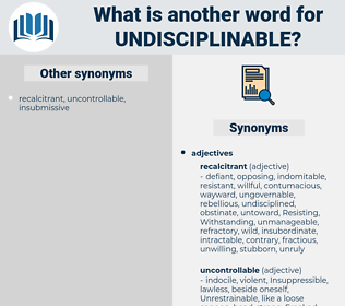 undisciplinable, synonym undisciplinable, another word for undisciplinable, words like undisciplinable, thesaurus undisciplinable