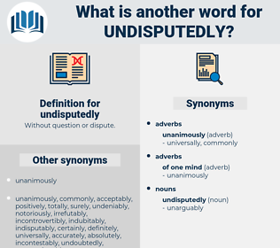 undisputedly, synonym undisputedly, another word for undisputedly, words like undisputedly, thesaurus undisputedly