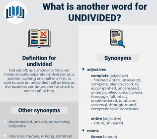 undivided, synonym undivided, another word for undivided, words like undivided, thesaurus undivided