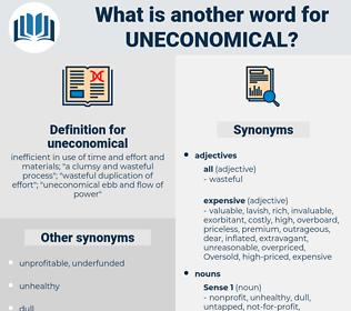 uneconomical, synonym uneconomical, another word for uneconomical, words like uneconomical, thesaurus uneconomical
