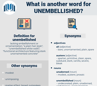 unembellished, synonym unembellished, another word for unembellished, words like unembellished, thesaurus unembellished