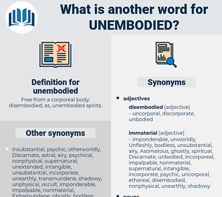 unembodied, synonym unembodied, another word for unembodied, words like unembodied, thesaurus unembodied