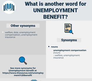 unemployment benefit, synonym unemployment benefit, another word for unemployment benefit, words like unemployment benefit, thesaurus unemployment benefit