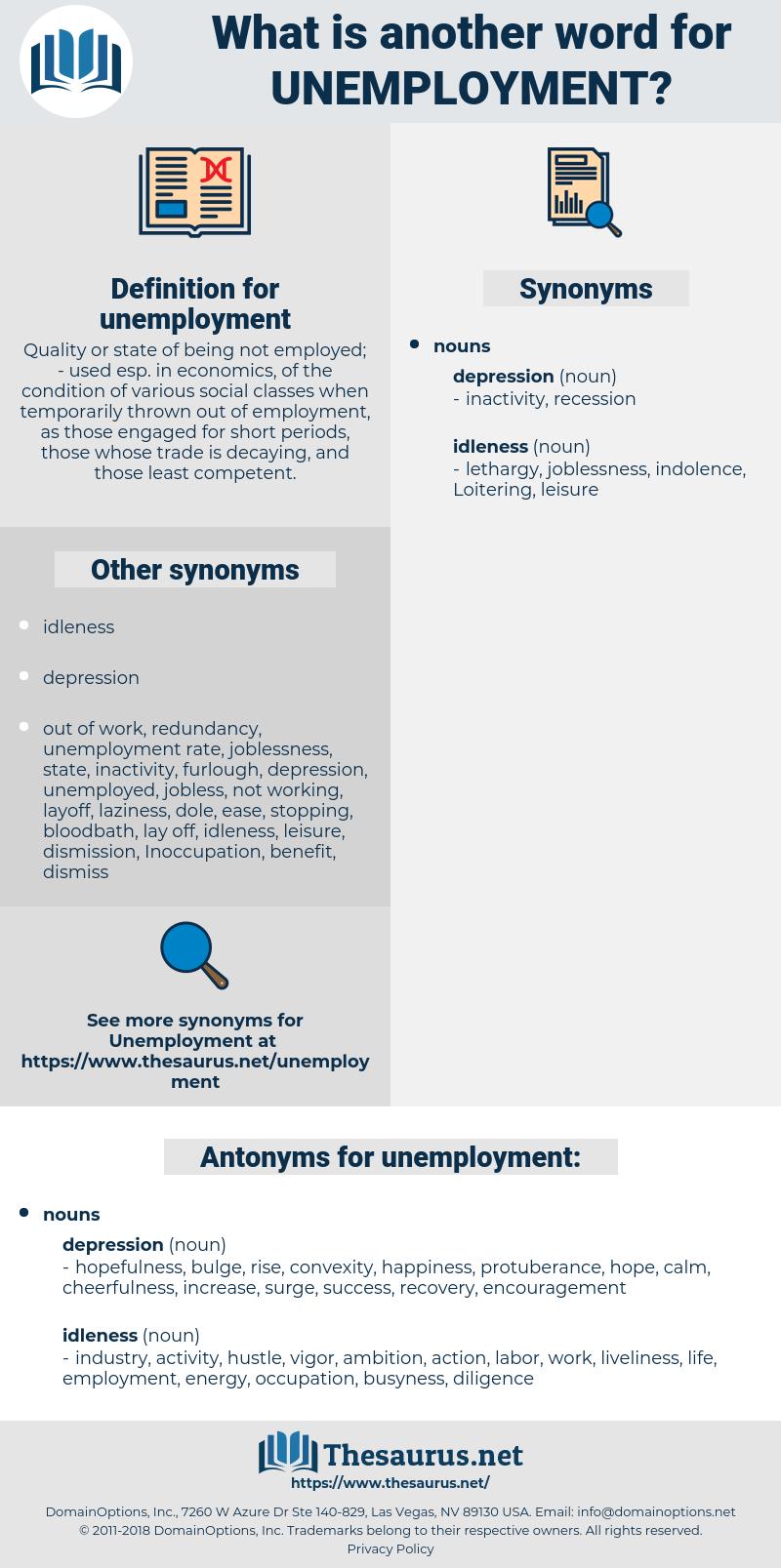 unemployment, synonym unemployment, another word for unemployment, words like unemployment, thesaurus unemployment