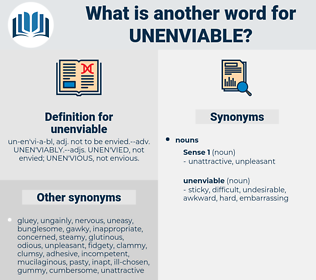 unenviable, synonym unenviable, another word for unenviable, words like unenviable, thesaurus unenviable