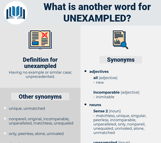 unexampled, synonym unexampled, another word for unexampled, words like unexampled, thesaurus unexampled