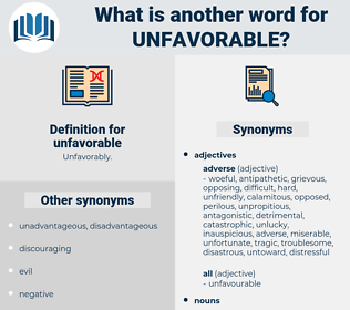 unfavorable, synonym unfavorable, another word for unfavorable, words like unfavorable, thesaurus unfavorable