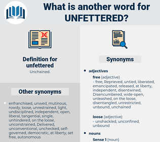 unfettered, synonym unfettered, another word for unfettered, words like unfettered, thesaurus unfettered