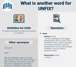 Unfix, synonym Unfix, another word for Unfix, words like Unfix, thesaurus Unfix