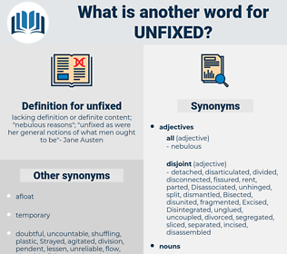 unfixed, synonym unfixed, another word for unfixed, words like unfixed, thesaurus unfixed