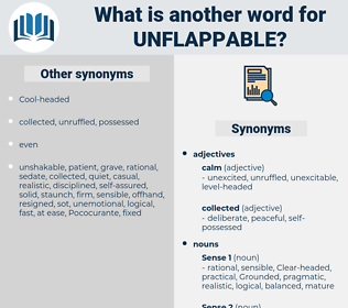 unflappable, synonym unflappable, another word for unflappable, words like unflappable, thesaurus unflappable