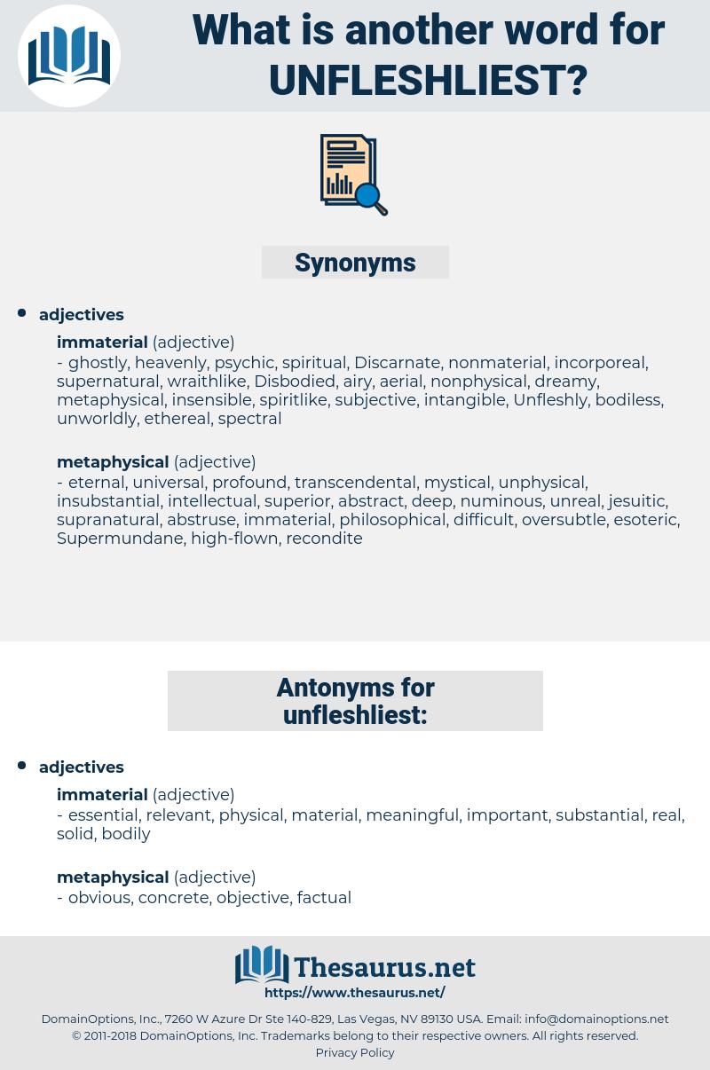 unfleshliest, synonym unfleshliest, another word for unfleshliest, words like unfleshliest, thesaurus unfleshliest