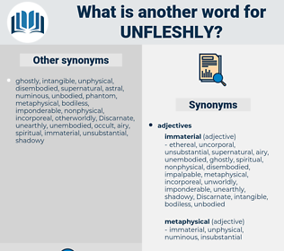 Unfleshly, synonym Unfleshly, another word for Unfleshly, words like Unfleshly, thesaurus Unfleshly