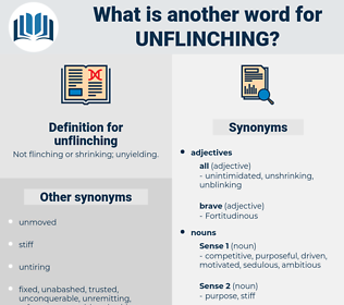 unflinching, synonym unflinching, another word for unflinching, words like unflinching, thesaurus unflinching
