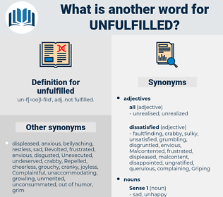 unfulfilled, synonym unfulfilled, another word for unfulfilled, words like unfulfilled, thesaurus unfulfilled
