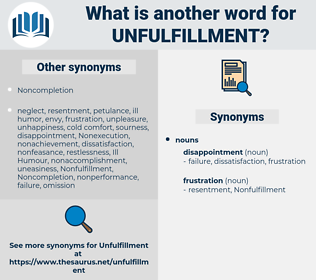 unfulfillment, synonym unfulfillment, another word for unfulfillment, words like unfulfillment, thesaurus unfulfillment